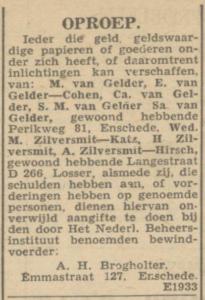 Cohen, Estella geh. van Gelder