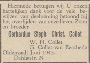 Collet, Gerhardus Stephanus Christianus