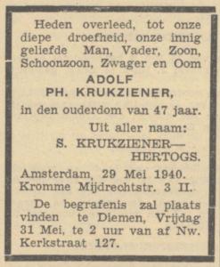 Cutzien/Krukziener, Adolf Philip
