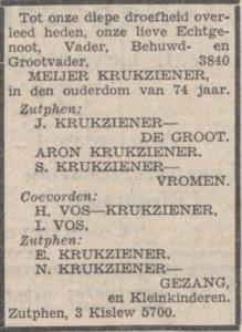Cutzien/Krukziener-de Groot, Jane