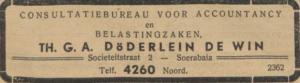Döderlin de Win, Theodorus Gerrit Anne