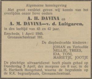 Davina, Antonius Hermanus