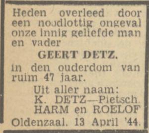 Detz, Geert