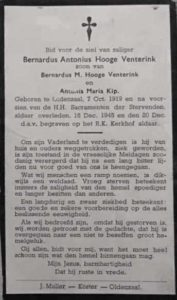 Hooge Venterink, Bernardus Antonius