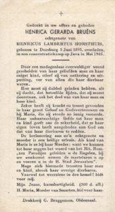 Horsthuis-Bruêns Hendrika