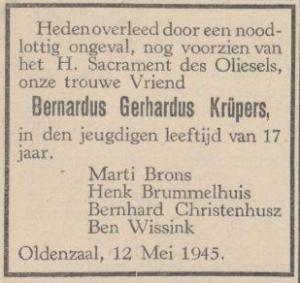 Krüpers Bernardus Gerharduss